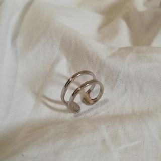 ジャーナルスタンダード(JOURNAL STANDARD)のsilver 925 double ring  *(リング(指輪))