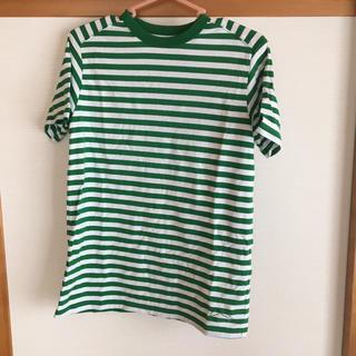 コーエン(coen)のコーエン ボーダーTシャツ メンズS グリーンホワイト(Tシャツ/カットソー(半袖/袖なし))