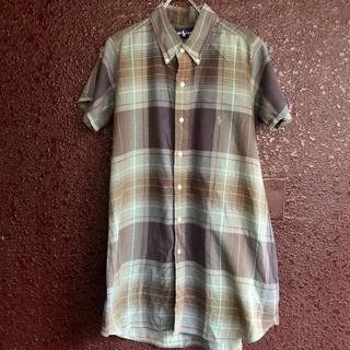 ラルフローレン(Ralph Lauren)のラルフローレン シャツワンピース 半袖 ralph チェックシャツ(ミニワンピース)