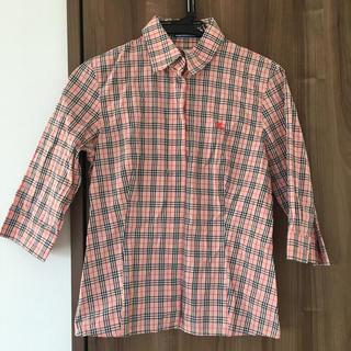 バーバリーブルーレーベル(BURBERRY BLUE LABEL)のバーバリーブルーレーベル チェックシャツ ピンク(シャツ/ブラウス(長袖/七分))