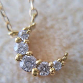 4℃ - K18   EAU DOUCE 4℃   月 ダイヤモンド ネックレス