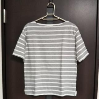 ジーユー(GU)のGUグレーボーダーTシャツ(Tシャツ(半袖/袖なし))