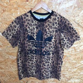 アディダス(adidas)のadidas レオパード柄 Tシャツ ビッグトレフォイル Sサイズ(Tシャツ/カットソー(半袖/袖なし))