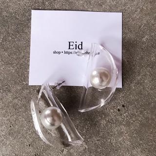 ナノユニバース(nano・universe)のAcrylic pearl earrings No.33(ピアス)