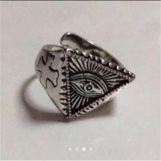 神の目を意味するプロビデンスの目/十字架/フリーメイソン・フリーサイズリング (リング(指輪))