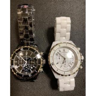 シャネル(CHANEL)のシャネル腕時計 電池型 男女サイズ 大人気J12 (腕時計)
