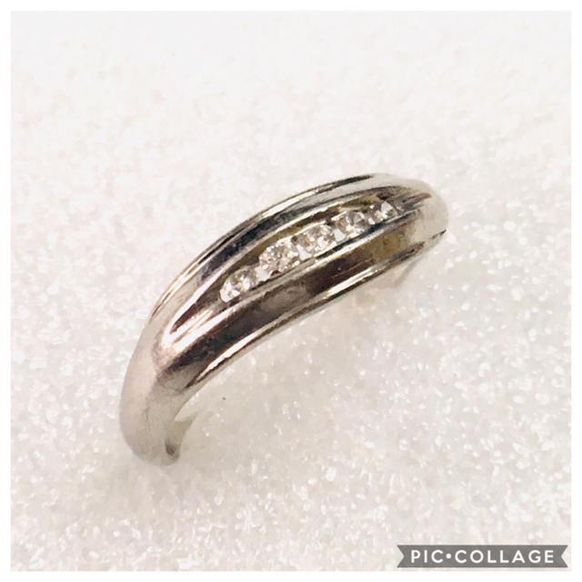 Pt900 天然ダイヤモンド デザイン リング✨ レディースのアクセサリー(リング(指輪))の商品写真