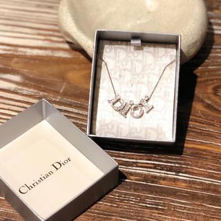 クリスチャンディオール(Christian Dior)のDior ラインストーンロゴネックレス(ネックレス)