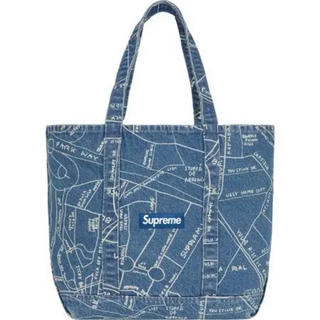 シュプリーム(Supreme)のSupreme Gonz Map Denim Tote Washed Blue(トートバッグ)