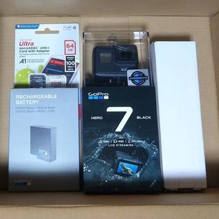 GoPro - 新品GoPro HERO7 Black+3Way/予備バッテリー/メモリーカード