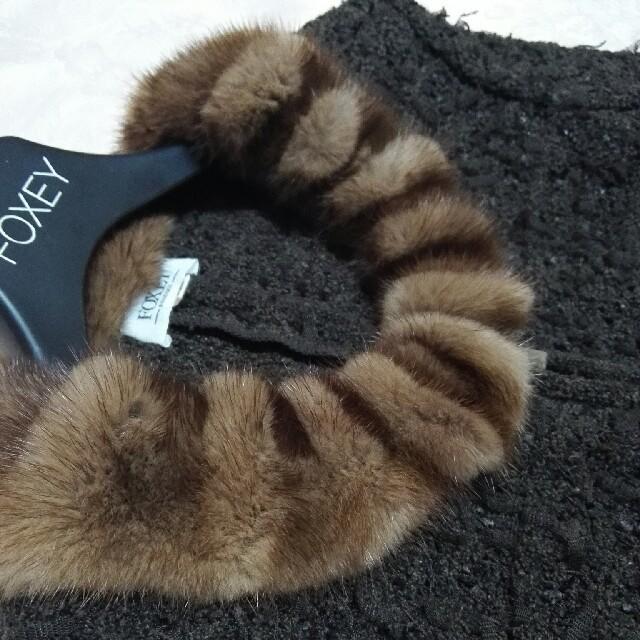 FOXEY(フォクシー)の麗様専用フォクシー FOXEY ミンクエリジャケット40 レディースのジャケット/アウター(テーラードジャケット)の商品写真