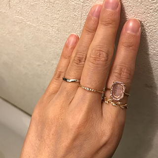 アガット(agete)のアガット  5粒ダイヤリング 0.04ct(リング(指輪))