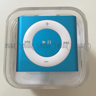 アップル(Apple)のレア商品♡美品 iPod shuffle 2GB ブルー×ホワイト(ポータブルプレーヤー)