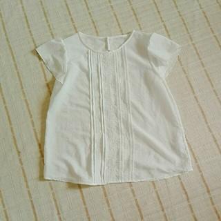 ジーユー(GU)のGU フロントレース白いブラウス(シャツ/ブラウス(半袖/袖なし))