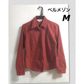ベルメゾン(ベルメゾン)のベルメゾン 赤 チェック 長袖シャツ M 千趣会(シャツ/ブラウス(長袖/七分))