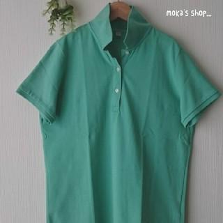 ユニクロ(UNIQLO)のUNIQLO カノコポロシャツ L green(ポロシャツ)