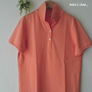 ユニクロ(UNIQLO)のUNIQLO カノコポロシャツ L orange(ポロシャツ)