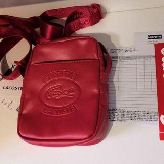 シュプリーム(Supreme)のSupreme LACOSTE Shoulder Bag Red(ショルダーバッグ)