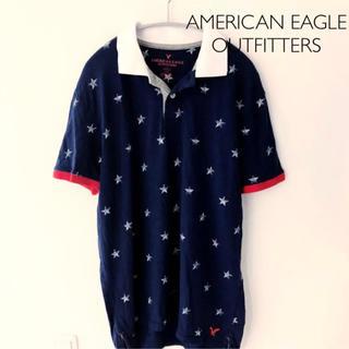 アメリカンイーグル(American Eagle)のAMERICAN EAGLE OUTFITTERS ポロシャツ Lサイズ(ポロシャツ)