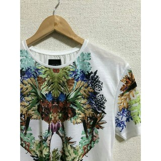 ZARA - ZARA  ボタニカル柄スカル Tシャツ