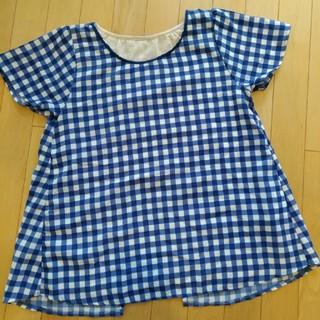 グローブ(grove)の値下げ!美品!グローブチェック半袖(Tシャツ(半袖/袖なし))