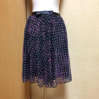 エイチアンドエム(H&M)のH&M❃︎リボン&プリント❃︎チュールスカート(ひざ丈スカート)