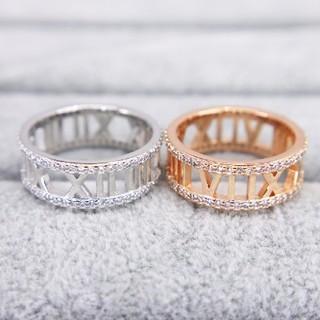 588 CZダイヤモンドリング キラキラ指輪 ローマ字数字シルバーリング(リング(指輪))