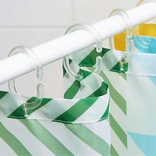 イケア(IKEA)のシャワーカーテンリング イケア RINGSJÖN リングシェン 透明 10個(カーテン)
