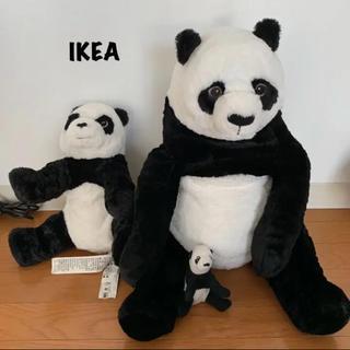 イケア(IKEA)のIKEA ソフトトイ パンダ 3体セット(ぬいぐるみ)