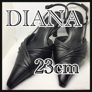 ダイアナ(DIANA)のダイアナ サンダル ブラック 23センチ DIANA 箱あり(サンダル)