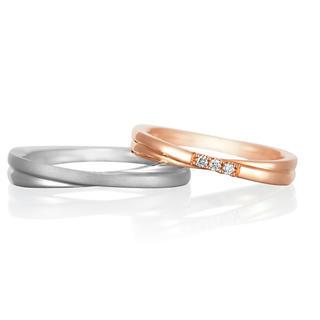 ヨンドシー(4℃)のペアリング 女性のみ  6号 訳あり 格安 ピンクゴールド ダイヤモンド(リング(指輪))