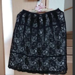 マーブルインク(marble ink)のmarble ink ●レーススカート(ひざ丈スカート)