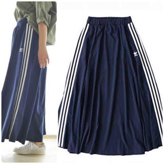 希少 adidas originals 3STRIPE LONG SKIRT L
