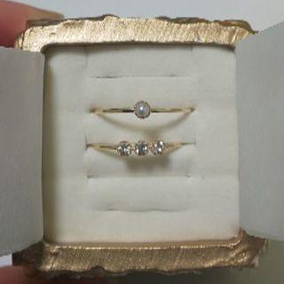 トッカ(TOCCA)のTOCCA jewel/K10リング 2本セット(リング(指輪))