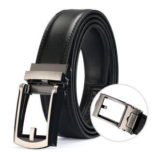 メンズ ベルト 黒 ビジネス スーツ コンフォート 革ベルト(セットアップ)