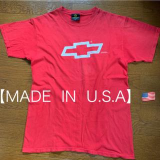 シボレー(Chevrolet)の【Chevy】シボレー🇺🇸USA製USEDTシャツ    ボウタイエンブレム(Tシャツ/カットソー(半袖/袖なし))