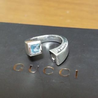 グッチ(Gucci)の[正規品] GUCCI グッチ ブルートパーズ リング 10~11号 シルバー (リング(指輪))