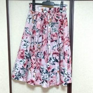 しまむら - 花柄 フレアスカート