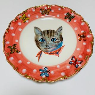 ナタリーレテ 陶器 猫のプレート H.P.DECO 女の子 入手困難