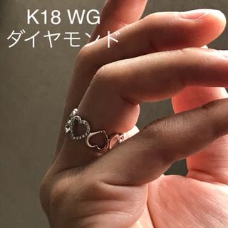 ティファニー(Tiffany & Co.)のティファニー センチメンタルハート パヴェダイヤ WG ホワイトゴールド 9号(リング(指輪))