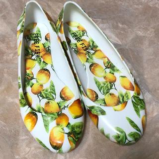 フリーフィッシュ(FREE FISH)のフルーツ柄♡レインパンプス(レインブーツ/長靴)