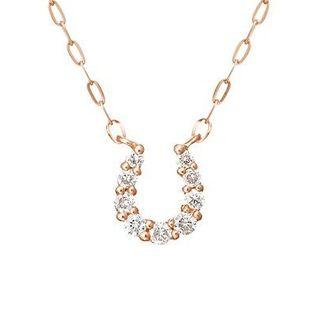 4℃ - 4℃ヨンドシー 馬蹄 ダイヤモンドピンクゴールドネックレス ¥41,040