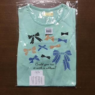 ベルメゾン(ベルメゾン)のリボンの半袖Tシャツ(Tシャツ/カットソー)