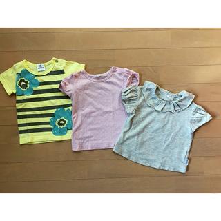 ムジルシリョウヒン(MUJI (無印良品))の美品 無印 ベビー Tシャツ 2点セット 80 試着のみ ギッズ(Tシャツ)