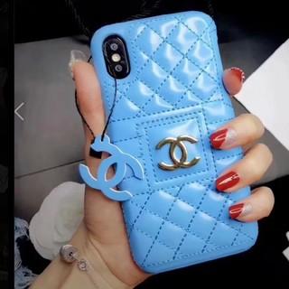シャネル(CHANEL)の新品 iphone7 & 8 ケース シャネル ブルー 青 アイフォン(iPhoneケース)