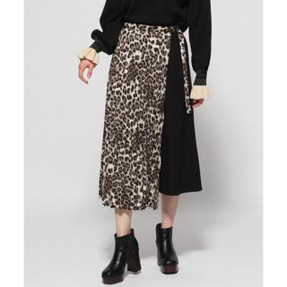 ハレ(HARE)のレオパードラップフレアスカート(ひざ丈スカート)