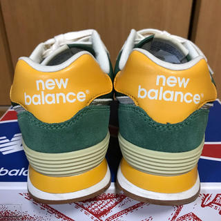 ニューバランス(New Balance)のニューバランス ML574 スニーカー 24.5cm グリーン 緑 黄色(スニーカー)