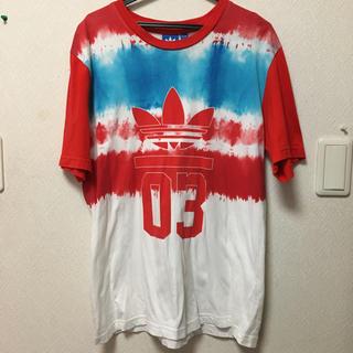 adidas - adidas originals アディダス Tシャツ 赤 青 白