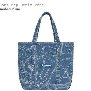 シュプリーム(Supreme)のSupreme Gonz Map Denim Tote Washed Blue (トートバッグ)