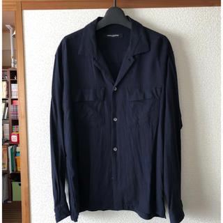 ナノユニバース(nano・universe)のナノユニバース オープンカラーシャツ ネイビー Sサイズ(シャツ)